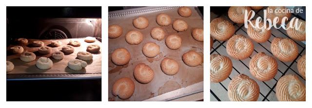 Receta de pastas de té de chocolate, naranja y avellana: el horneado