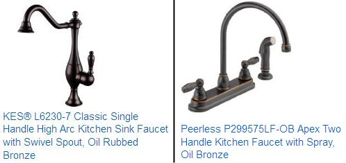 Antique Bronze Kitchen Faucet Grey Island Oil Rubbed