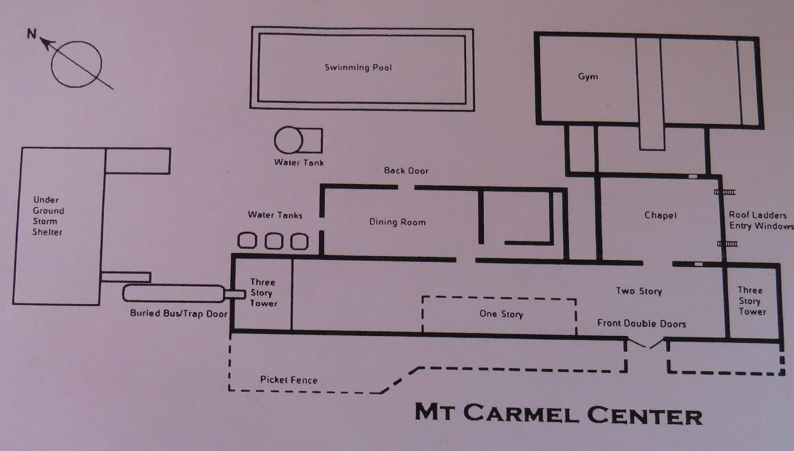 Navasota Ranch Branch Davidian Mount Carmel Trapdoor Schematic Photos From The Past