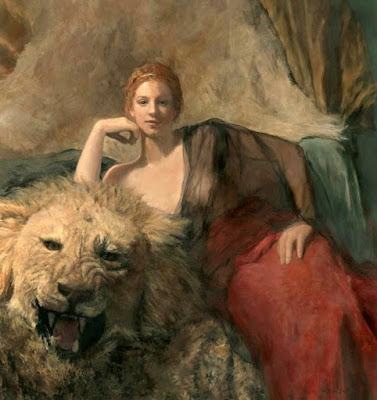 Woman With a Lion - Ode To My Mother, Grace, Linda Lee Nelson