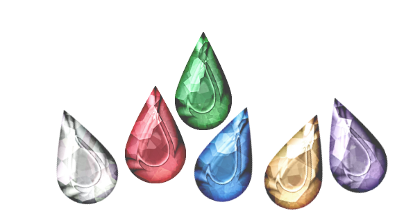 Drop Shapped Diamonds in Different Colors.