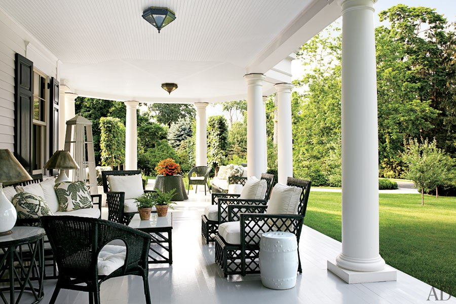 Black And White Patio With Wicker Furniture Cushions Antique Rattan Chairs Also