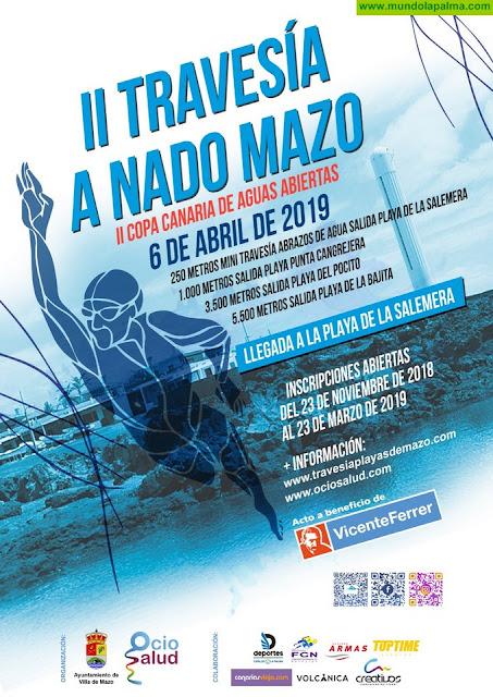 La II Travesía a Nado Playas de Mazo abre el calendario de la Copa Canaria de Aguas Abiertas 2019