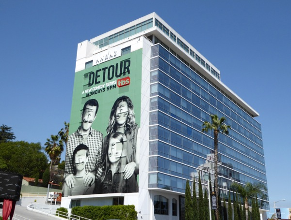 Giant Detour series premiere billboard
