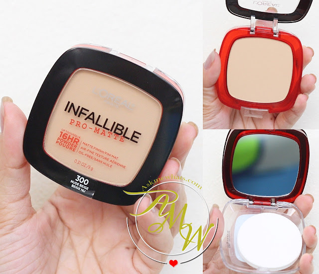 A photo of  L'Oreal Infallible Pro-Matte Powder Nude Beige