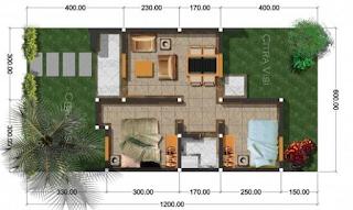 Desain dan Denah Rumah Minimalis Sederhana Type 21 2