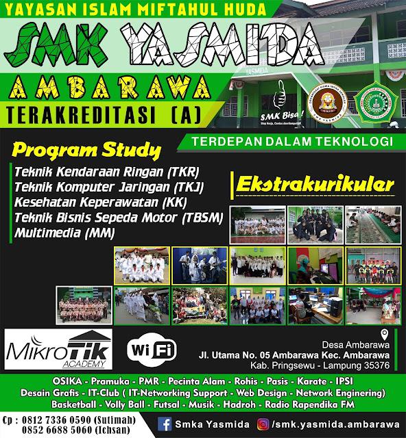Desain Billboard Banner Jalan SMK Yasmida Ambarawa