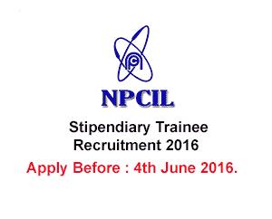 npcil.nic.in - NPCIL Recruitment 2016 – 128 Scientific Assistant