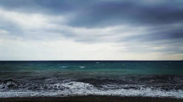 Αχ θάλασσα μου σκοτεινή... θάλασσα αγριεμένη...