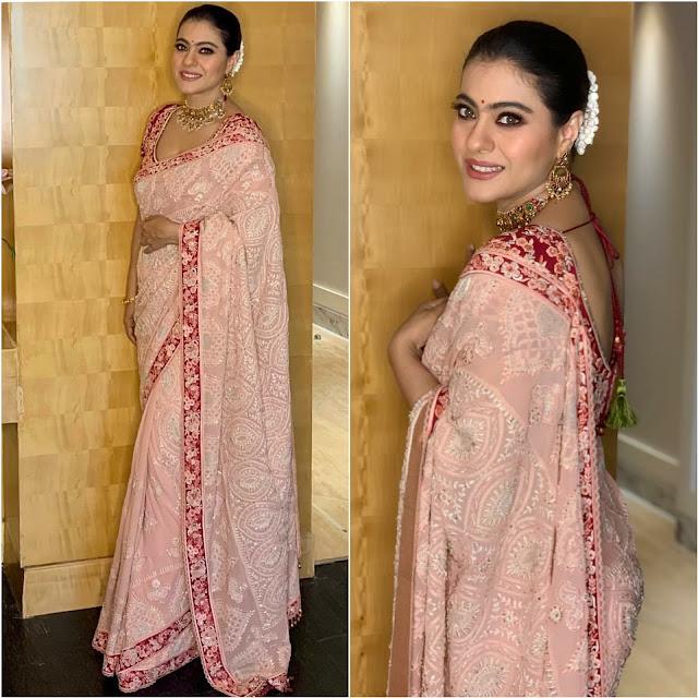 Kajol Wears A Tarun Tahiliani Sari