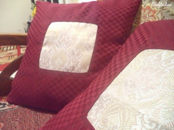 Sewing cushion cover
