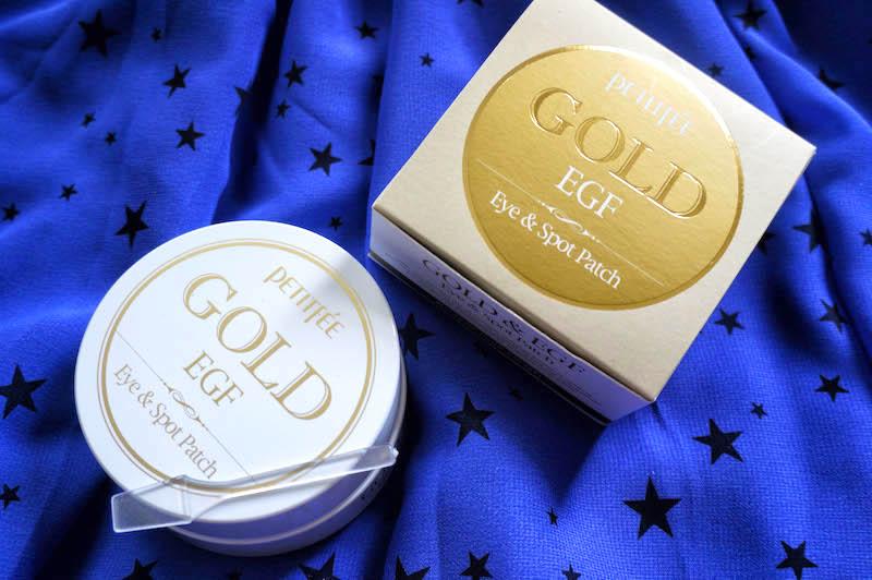 pogróbiające płatki pod oczy gold egf płatki złote koreańskie kosmetyki koreańska pielęgnacja kbeauty asian skin care