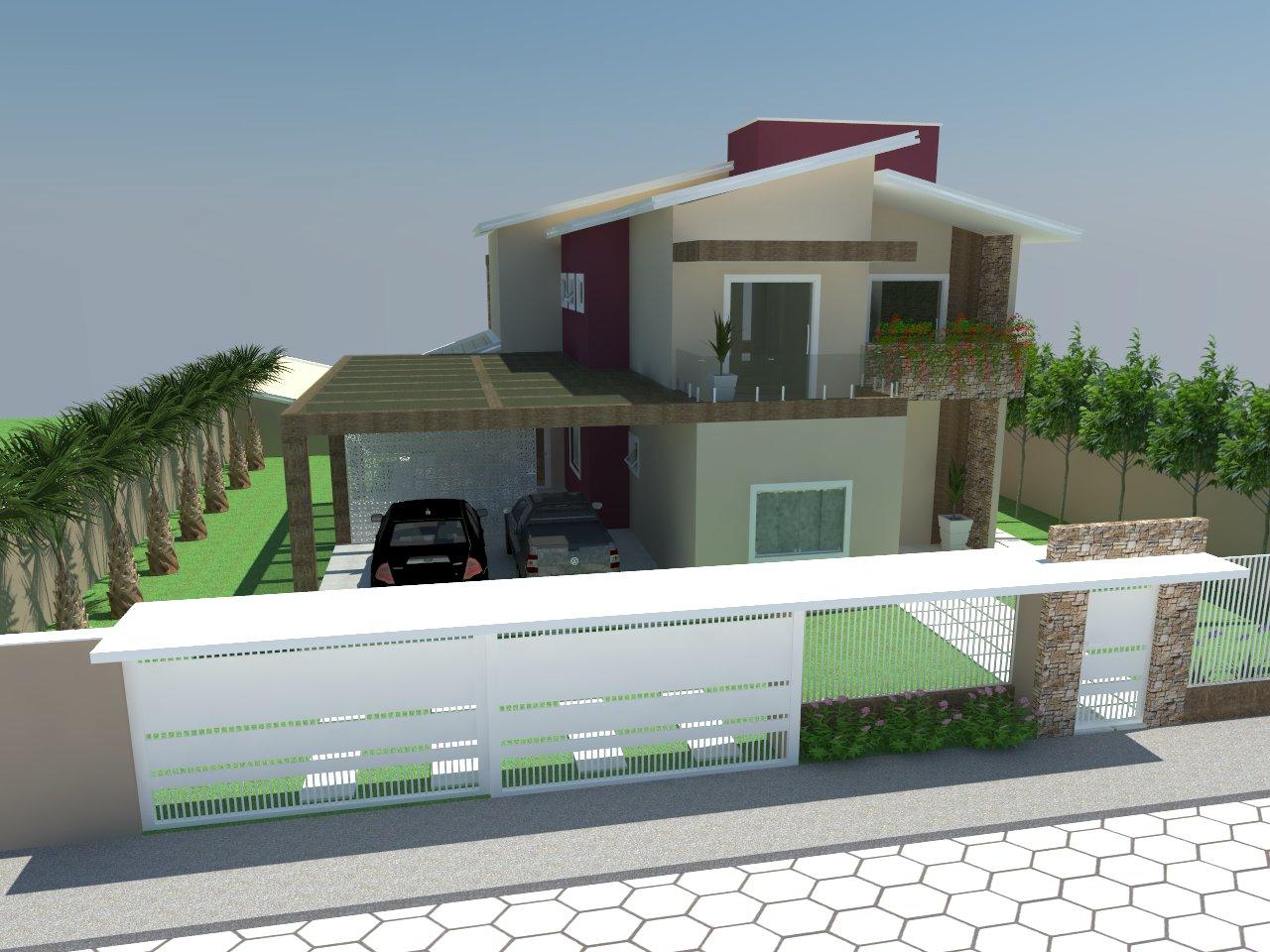 A urban stica fachada da casa com ou sem telhado - Casas embargadas la caixa ...
