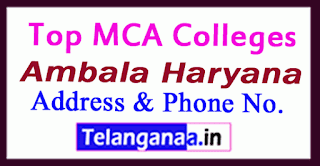 Top MCA Colleges in Ambala Haryana