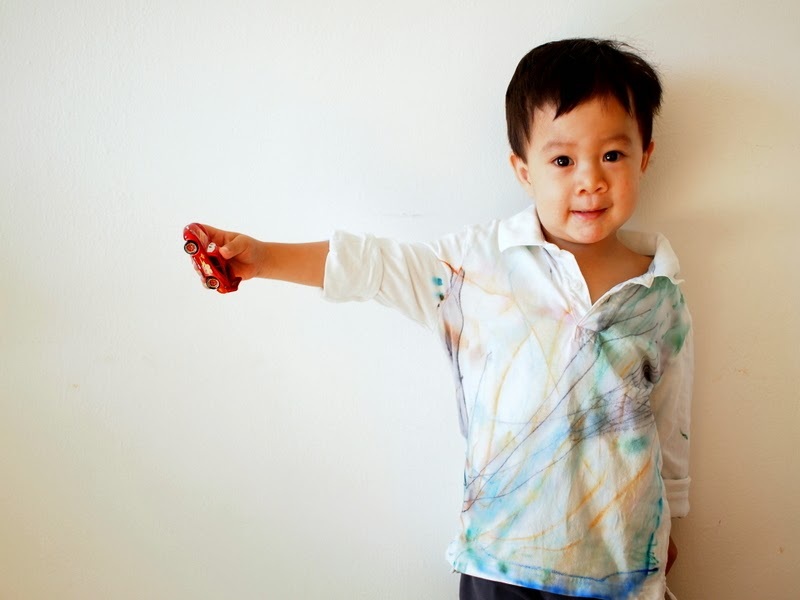 Toddler Made Sharpie Dyed Shirt