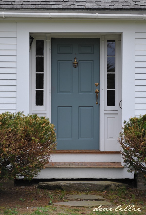 Hampshire gray for exterior home joy studio design - Front door colors for grey house ...