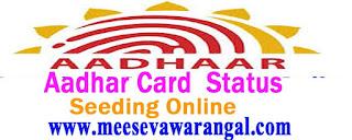 Aadhaar Card Status Online E Aadhaar Card Online Status at www.uidai.gov.in