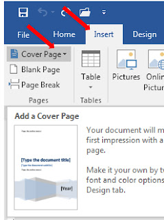 Cara Membuat Cover Makalah Menggunakan Menu Cover Page Di Ms Word