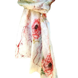 Handmade Ashdown rose scarf by Mimi Pinto