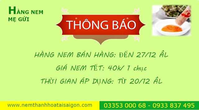 Giá nem Thanh Hóa Tết 2019