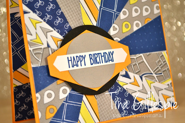 scissorspapercard, Stampin' Up!, Sunshine Sayings, Picture Perfect Birthday, Best Route DSP