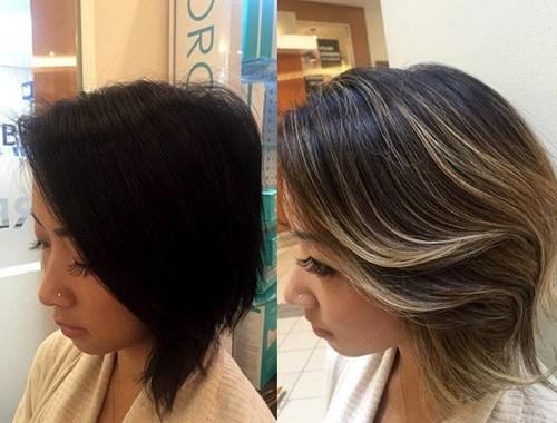 balayage short hair 2019