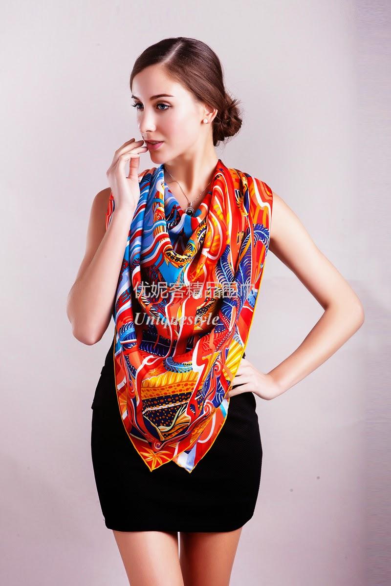 6ae6683eb9a Hermes De la Mer au Ciel Hermes silk twill giant plume scarf online outlet