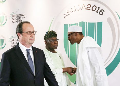 hollande obasanjo buhari photo