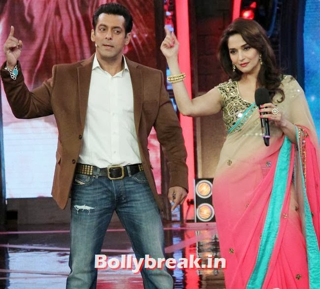 Salman Khan and, Madhuri Dixit Huma Quershi promote Dedh Ishqiya on Bigg Boss 7
