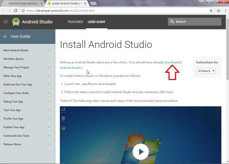 Android studio app download