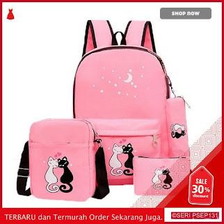 HOP513 TAS RANSEL SCHOOL CAT KPOP 4IN1 | BMGShop