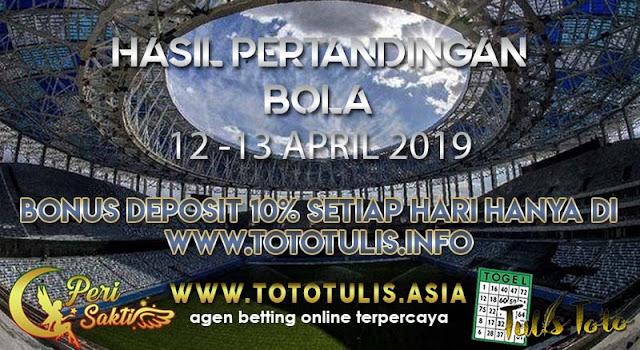 HASIL PERTANDINGAN BOLA TANGGAL 13 -14  APR 2019