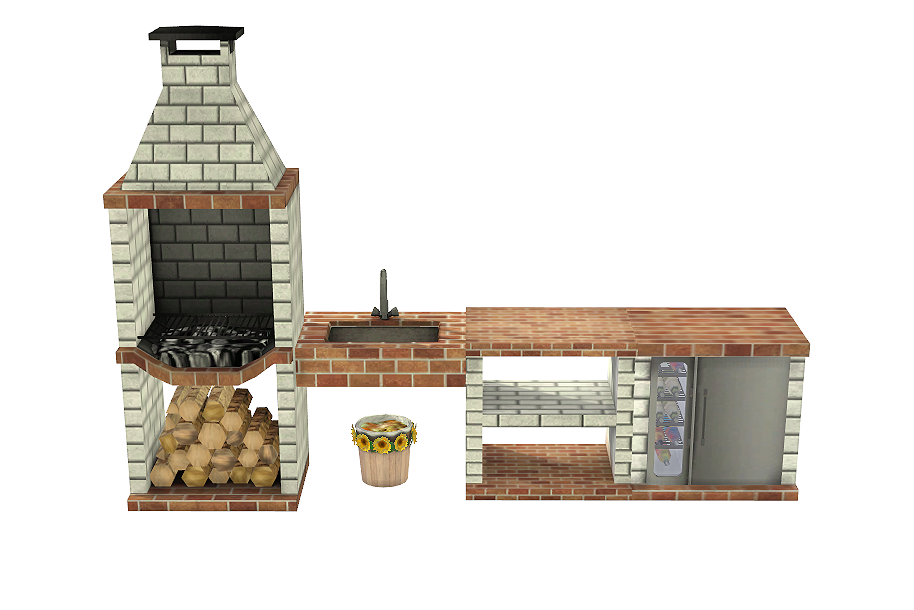 My Sims 4 Blog Ts2 Bbq Outdoor Kitchen Set Conversion By