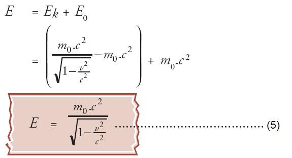 Pengertian Massa Momentum Energi Relativistik Rumus