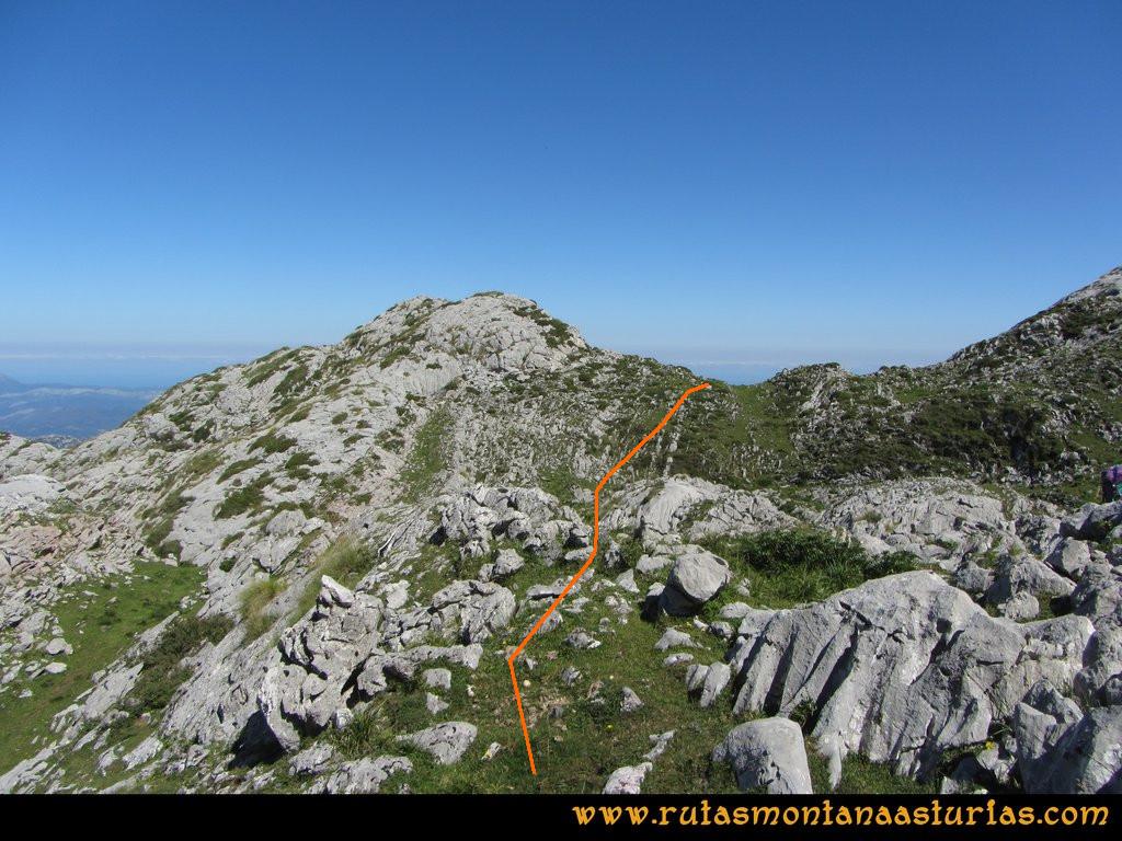 Travesía Pan de Carmen, Jou Santo, Vega de Justigallar: Camino de la Vega Justigallar