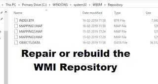 Cara memperbaiki atau membangun kembali WMI Repository pada Windows 10