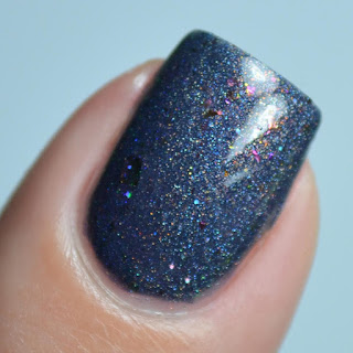 navy holo nail polish