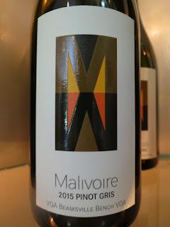 Malivoire Pinot Gris 2015 - VQA Beamsville Bench, Niagara Peninsula, Ontario, Canada (89 pts)