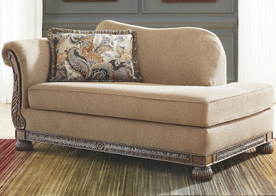 traditional fabric living room chaise
