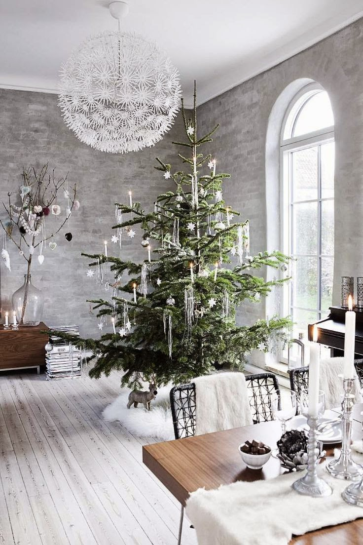modern Scandi Christmas interiors