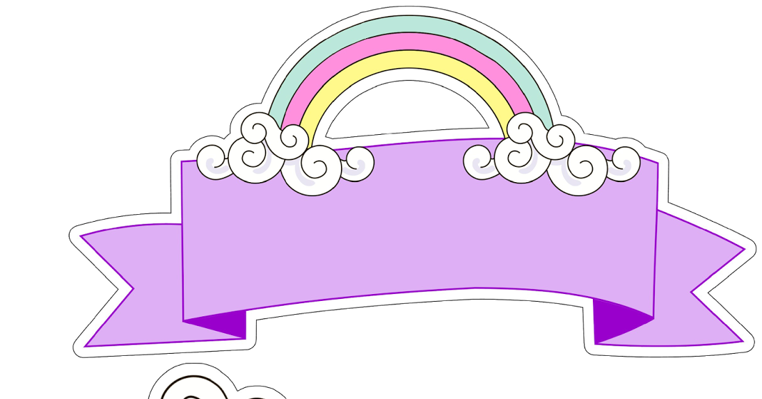 Free Printable Unicorn Cake Toppers Oh My Fiesta In English