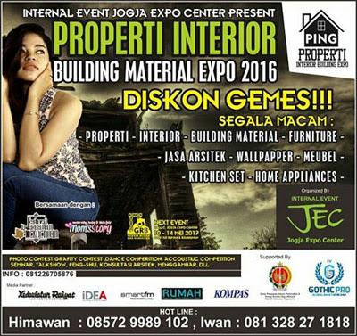 Properti Interior Building Material Expo 2016 - Yagyakarta