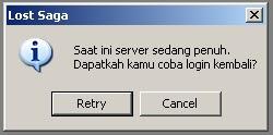 Cara Mengatasi Server Penuh Lost Saga