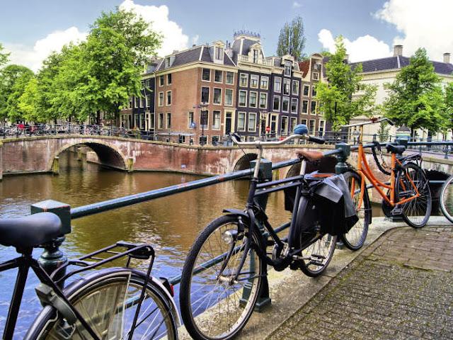 Andar de bicicleta em Amsterdã, Holanda