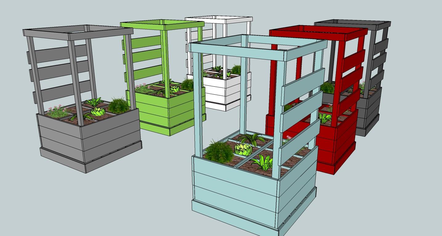 potager en carr. Black Bedroom Furniture Sets. Home Design Ideas