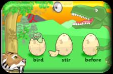 http://www.ictgames.com/dinosaurEggs_phonics/index.html