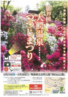 Owani Onsen Azalea Festival 2016 poster 平成28年 第39回大鰐温泉つつじまつり ポスター Tsutsuji Matsuri