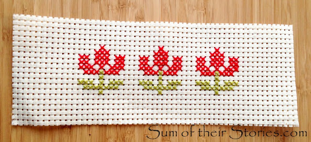 simple cross stitch planter