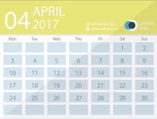 april 2017 timetable calendar