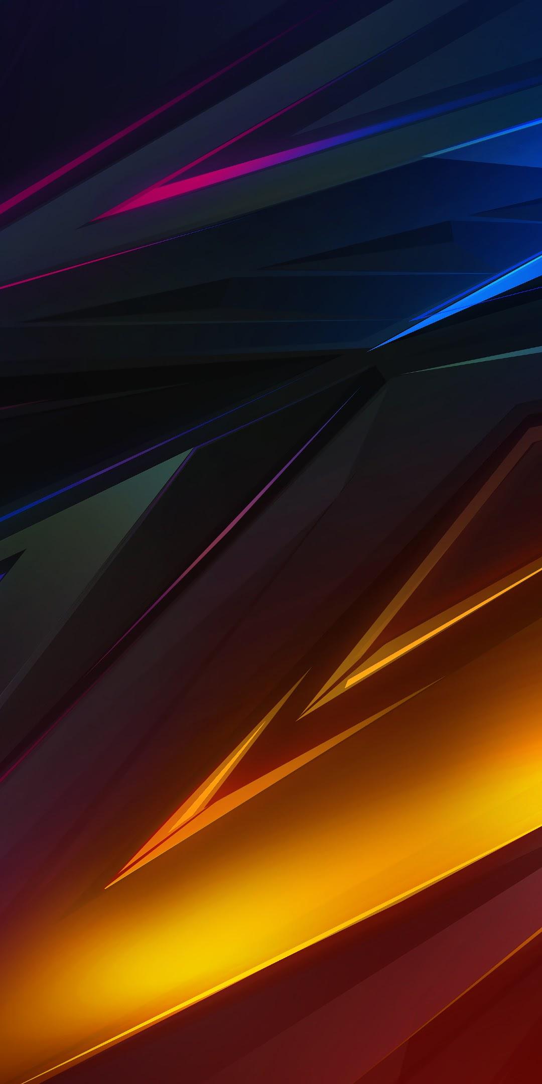 Colorful Dark Abstract Polygon 3d 4k Wallpaper 39